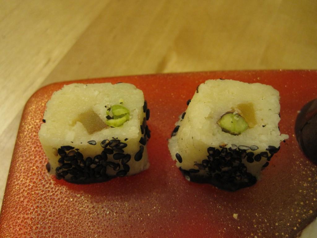"Pistachio Ginger ""Sushi"""